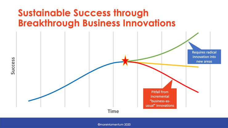 Radical innovation in stagnating markets